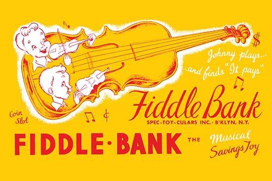 Fiddle Bank Art Print 9785872804093 Buyenlarge New Vintagetoyboxart Art Prints Art Fiddle