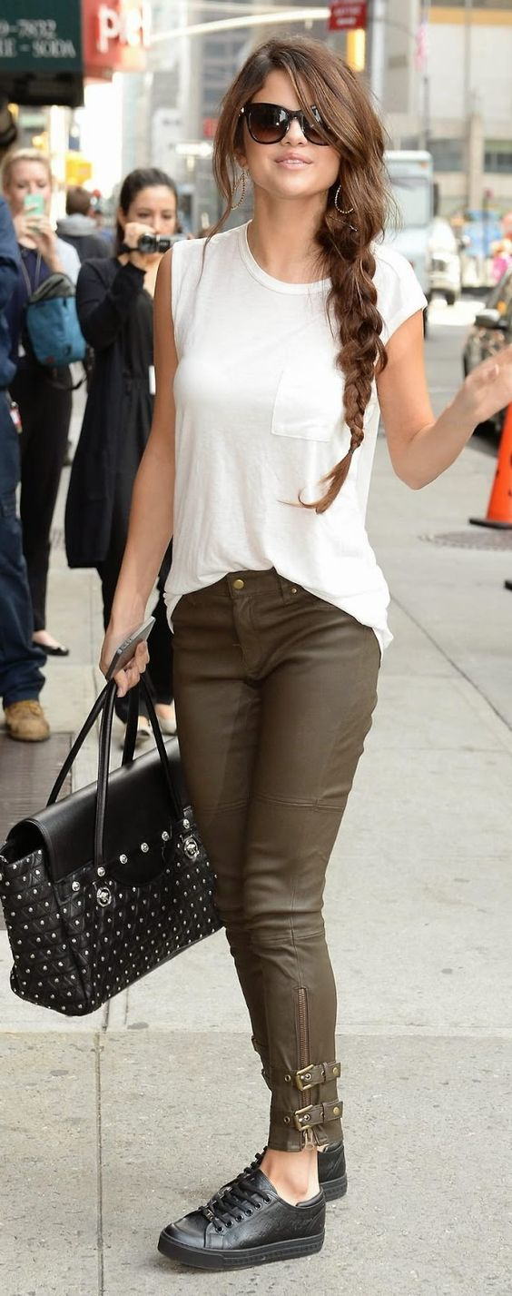 celebrity casual street style fashion trends pinterest style selena and celebrity