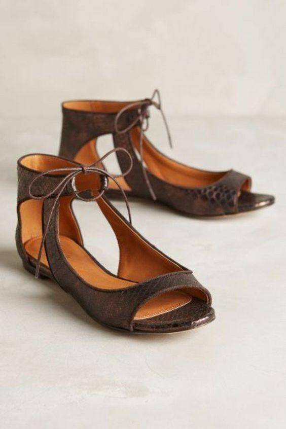 sandales en cuir marron, sandales pas cher femme marron foncé