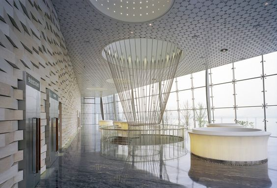 Interior of Wuxi Grand Theatre in Jiangsu, China by PES-Architects