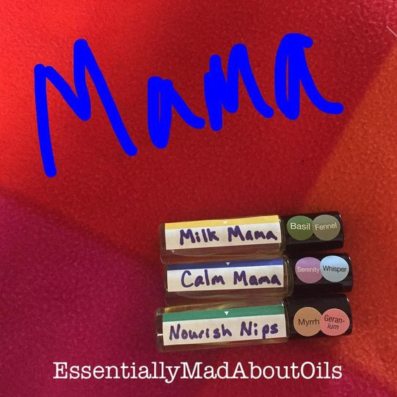 Just 5 drops of each and fill the rest with fractionated coconut oils. Works great and is safe for you and the baby.