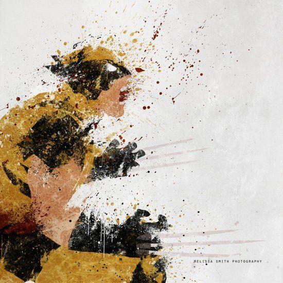 As pinturas borradas de super-heróis de Melissa Smith