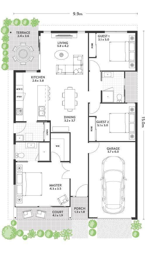 Modern House Plan Ideas House Construction Plan Single Storey House Plans 20x40 House Plans