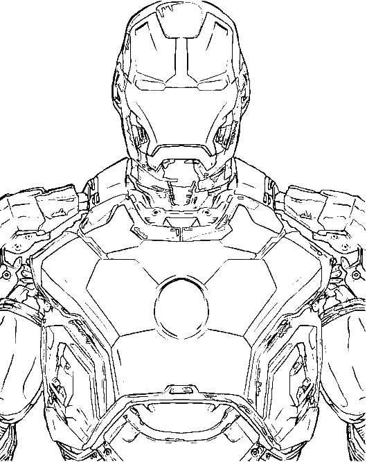 The Most Advanced Robot Iron Man Coloring For Kids Super Hero - Coloring-page-iron-man