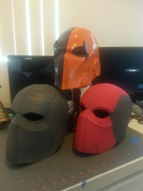 foam helmet build cosplay pinterest helmets deathstroke and deadpool. Black Bedroom Furniture Sets. Home Design Ideas