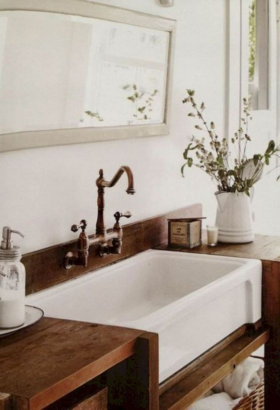 Apron Front Sinks In The Bathroom One Trend Two Ways Bathroom
