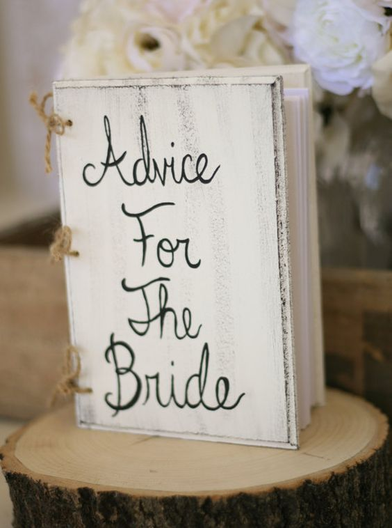 Bridal shower Guest books and Shabby chic