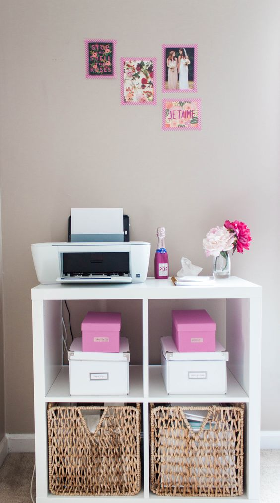 bonnie bakhtiaris pink and chic home office office tour chic home office office