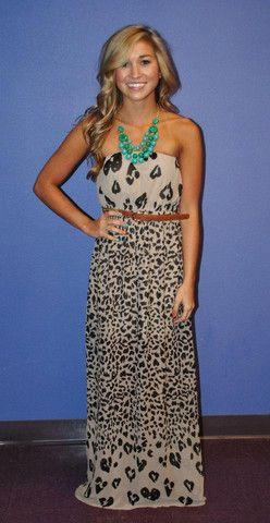 I love this animal print dress