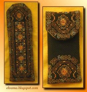 Embroidered Black&Yellow Cell Phone Case | Вышитый чехол для мобильного телефона