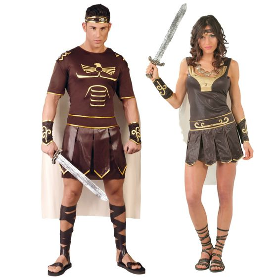 Pareja disfraces de gladiadores romanos parejas for Disfraces parejas adultos