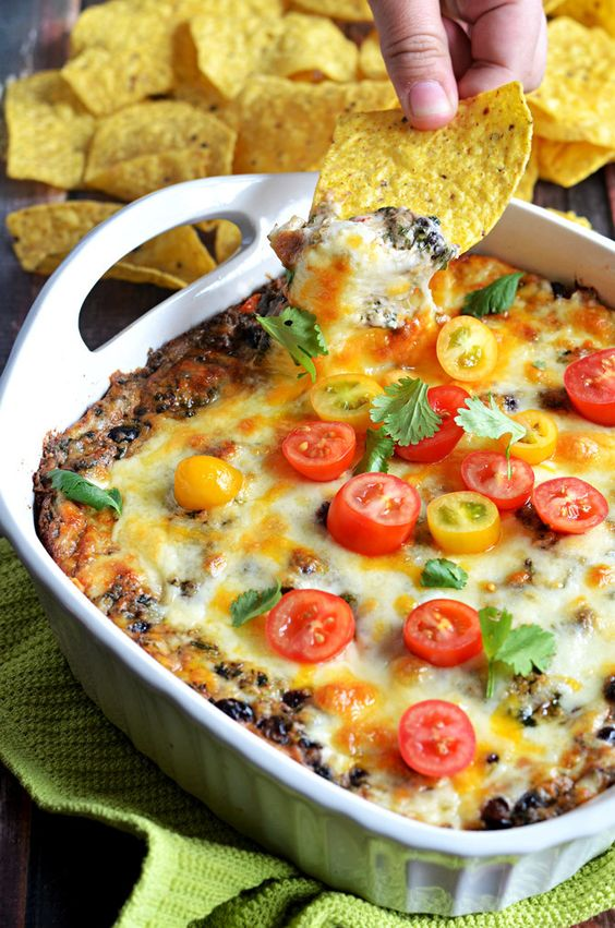 Fiesta Cheesy Black Bean Spinach Dip | Recipe | To be, The ...