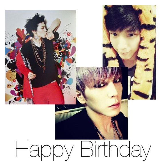 """Happy birthday Himchan!"" by pieeella ❤ liked on Polyvore featuring beauty"