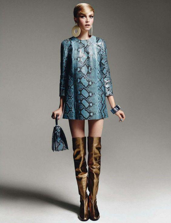 visual optimism; fashion editorials, shows, campaigns & more!: anni '60: siri tollerod by emilio tini for glamour italia october 2014