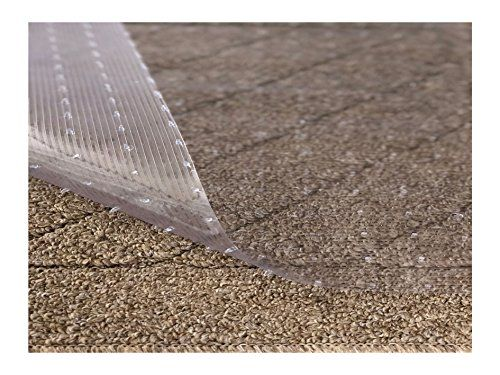 Resilia Clear Vinyl Plastic Floor Runner Protector For Low Pile Carpet Non Skid Decorative Pattern 27 Inches Wide X 12 Feet Long Feedlinks Net Global S Plastic Flooring Plastic Floor Runners