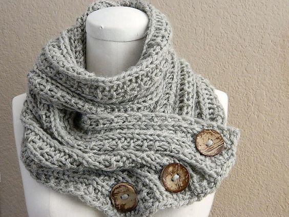 Infinity Scarf Knitting Pattern Ravelry : Ravelry: awuramas Oat Buttoned Infinity Scarf Knit ...