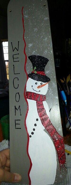 Hand Painted Snowman Fan Blade Christmas Pinterest