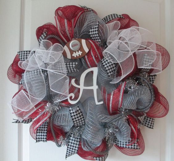 Alabama Team Deco Mesh Wreath by ChonasCreations on Etsy