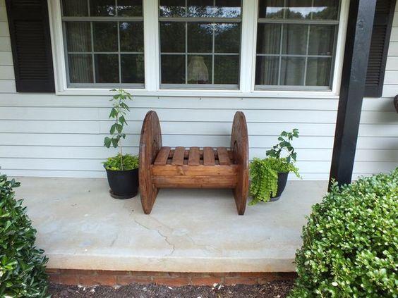 manualidades con carretes de madera