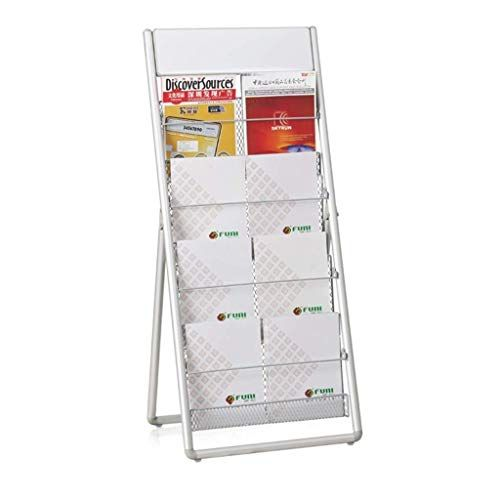 Jiguang Flower Pot Rack A4 Display Stand 4 Layer Folding Floor Display Stand Vertical Wire Mesh Magazine Rack F In 2020 Brochure Holders Magazine Rack Magazine Display