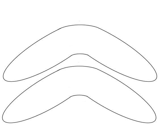 Pinterest the world s catalog of ideas for Australian boomerang template