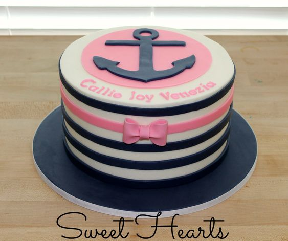 My cute anchor cake! www.facebook.com/sweethearts3