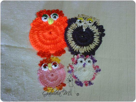 Tutorial : Corujas en crochet