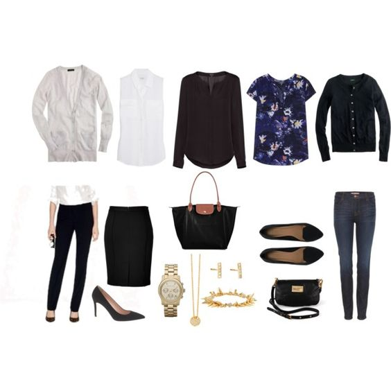 What to Pack for a Business Trip / basics that are both boardroom and carry-on approved.  Spring Edition.  By citronetlimon on Polyvore