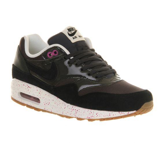Nike Air Max 1 Formateurs En Anthracite Noir Et Rose