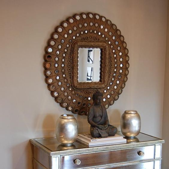 Living Rooms Pier 1 Imports Honeycomb Mirror Borghese