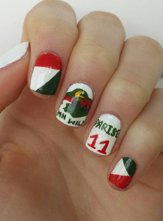 Minnesota Wild Hockey Nails By Diydazzlenails Om Youtube Mikayla