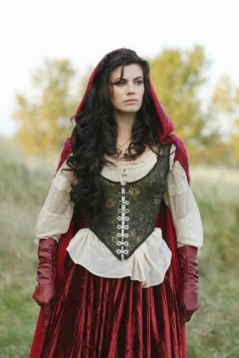 Once Upon a Time | Ruby | Red Riding Hood | costumes by Eduardo Castro - I'd like to be Red Riding Hood for Halloween this year.  I love how they style Ruby on Once Upon a Time.