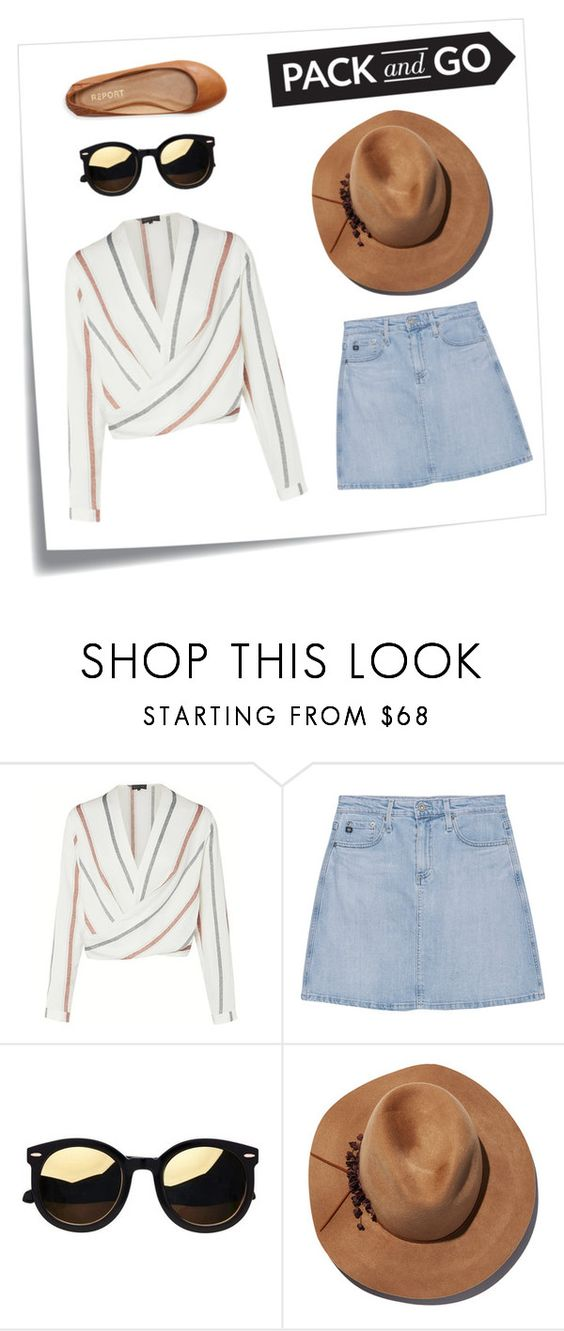"""labor day weekend #packandgo"" by carolinejbrooks ❤ liked on Polyvore featuring Post-It, AG Adriano Goldschmied, Eugenia Kim and Aéropostale"
