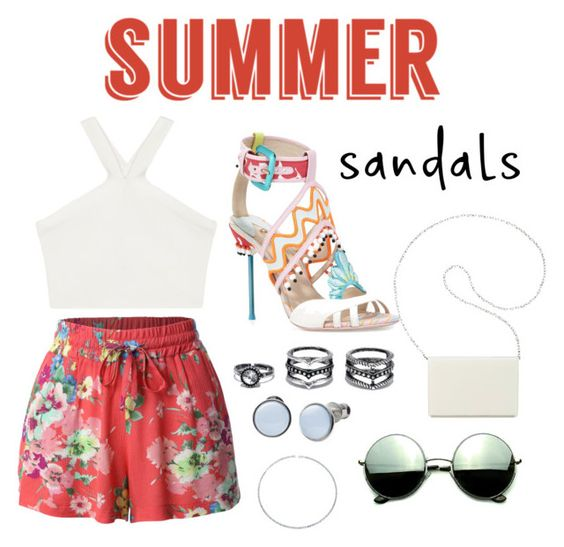 """""""Untitled #188"""" by elizaarbizu ❤ liked on Polyvore featuring LE3NO, BCBGMAXAZRIA, Revo, Nine West, Lulu*s, Skagen, Bling Jewelry and summersandals"""
