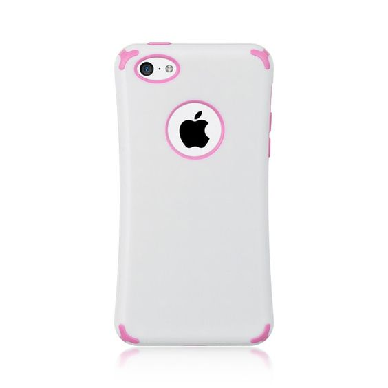 DW Premium Fusion Candy Case for iPhone 5C - White/Hot Pink