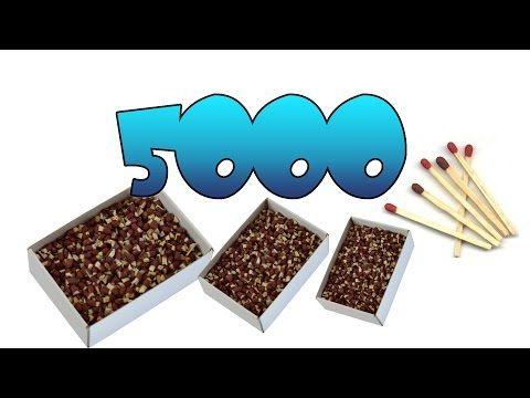Super explosión con 5000 fósforos - YouTube