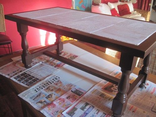 Table Basse Carrelage Repeindre Table Basse Table Basse Customiser Table Basse