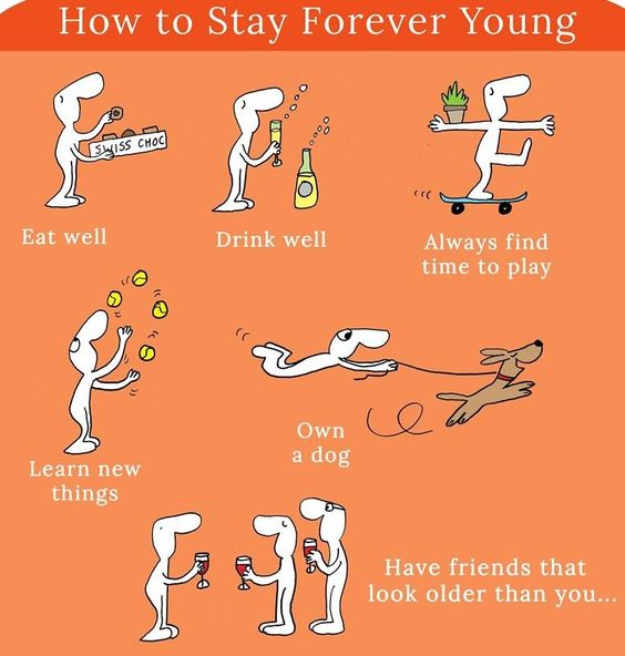 #how to stay young forever