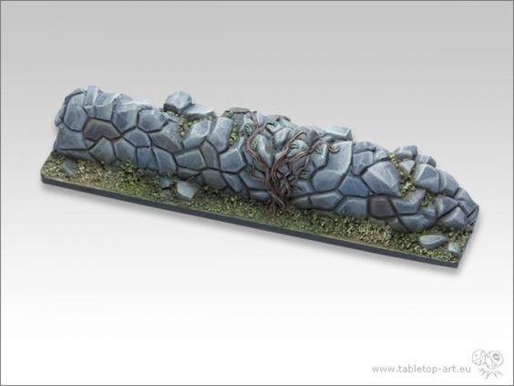 Eine Mauer aus Kunststoff