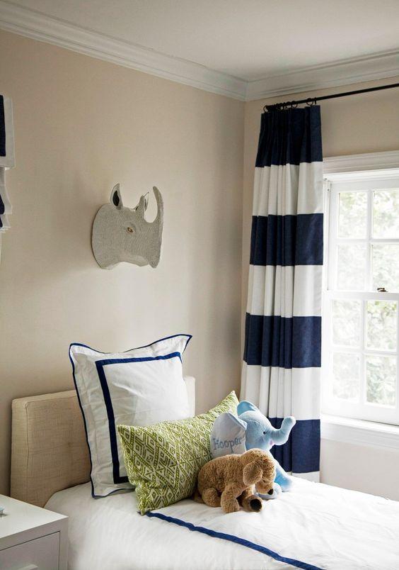 Curtains Ideas curtains boys room : Blue and Green Big Boy Room | Grey walls, Boys and Big boy rooms