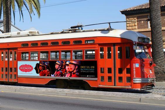 San Francisco Ballet Nutcracker Bus Side Banner by 300FeetOut