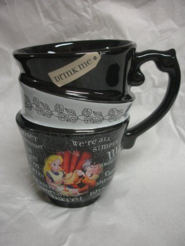 """DISNEY PARKS EXCLUSIVE : Alice in Wonderland """"Quotes"""" 12oz Ceramic Cup by Disney Parks, http://www.amazon.com/dp/B006YW999G/ref=cm_sw_r_pi_dp_vDA7rb02TWTAM"""