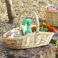 Your gardening supplies can be easily carried with you in this basket.