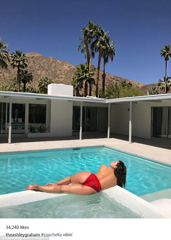 'Vibin'': As the Coachella Valley Music And Arts festival kicked off its first day on Friday, Ashley Graham seemed ready for a weekend of relaxation: