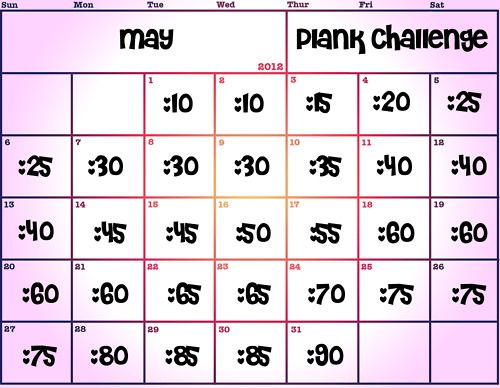 30 Day Plank Challenge. Go from 10 seconds to 90