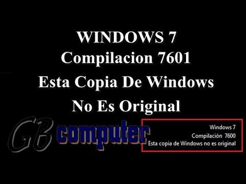 109 Solución Windows 7 Compilación 7601 No Es Original 2018 Gb Computer Youtube Computacion Ser Original Informática