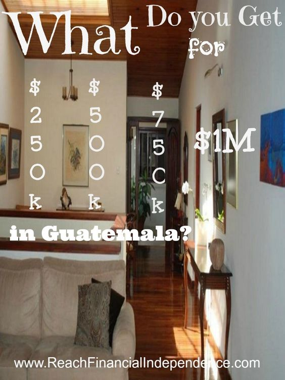 What do you get for $250k, $500k, $750k or $1m in Guatemala?