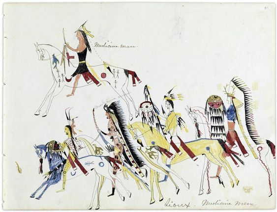 Exploring the legacy of American Plains Indians ledger drawings - ledger form