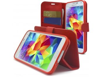 Smart Cover Galaxy S5 Folio Skin Texture Rouge