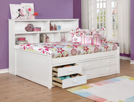 Bookcase Daybed Tons Of Storage Twin Or Full Size White Or Grey